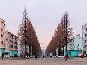 Pyongsong - City centre