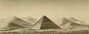 Pyramid of Athribis - The Pyramid of Athribis. Engraving from Description de l'Egypte (1823)