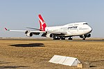 Qantas (VH-OJU) Boeing 747-438(ER) at Avalon Airport (1).jpg