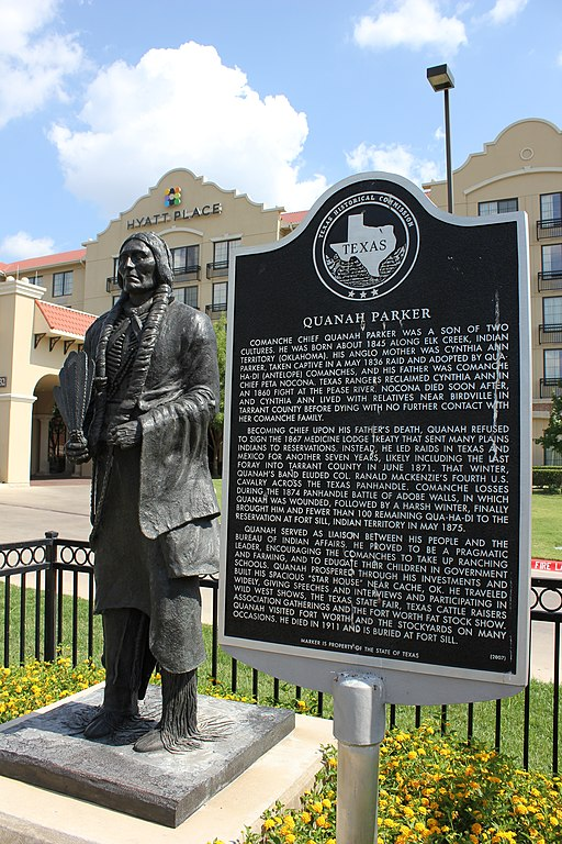 Filequanah Parker Fort Worth Texas Historical Marker  Jpg Wikimedia Commons