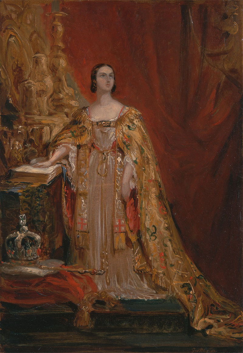 Queen Victoria Taking the Coronation Oath, June 28, 1838, by George Hayter.jpg