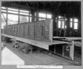 Queensland State Archives 3640 Rocklea workshops assembly of main bridge roadway stringer for marking off Brisbane 7 June 1938.png