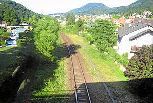 Landau–Rohrbach railway - The Landau–Rohrbach railway between Annweiler and Rinnthal