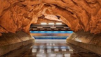 Rådhuset metro station - Image: Rådhuset underground metro station Stockholm 2016 02