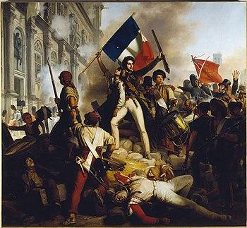 Il combattimento davanti all'Hôtel de Ville , di Jean-Victor Schnetz