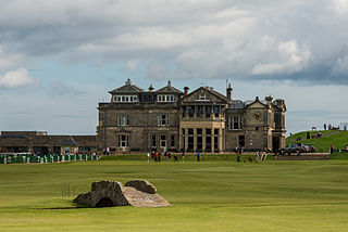 St Andrews, Scotland, the home of golf. The standard 18 hole golf course was created at St Andrews in 1764.[569]