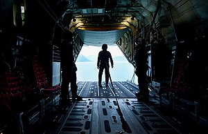 No. 285 Squadron RAAF - Image: RAAF personnel aboard C 130 Hercules during Red Flag Alaska 15