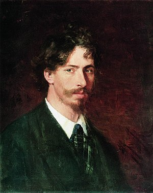 Ilya Repin - Self-portrait, 1878  (State Russian Museum, St. Petersburg).