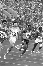 RIAN archive 556242 Silver medalist of the 1980 Olympics in 800m running Sebastian Coe from Great Britain.jpg