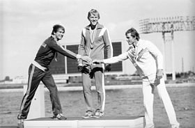 RIAN archive 578007 Winners of 1980 Olympiad in rowing and canoeing (single sculls).jpg