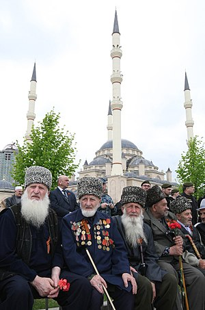 Chechens - Chechen World War II veterans during celebrations on the 66th anniversary of Victory in the Great Patriotic War.
