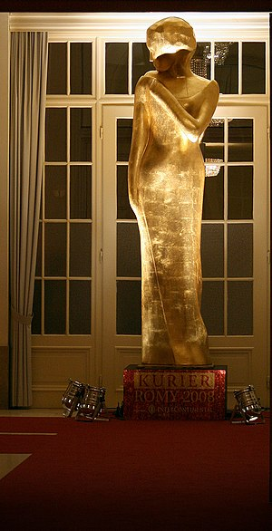 Romy (TV award) - Enlarged statue of the trophy