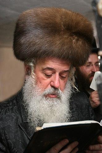 Hasidic Judaism - Rabbi Moshe Leib Rabinovich, Munkacser Rebbe, wearing a kolpik