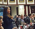 Rachel Burgin seeks the support of her colleagues for a measure considered on the House floor.jpg