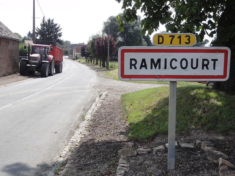 Ramicourt (Aisne) city limit sign