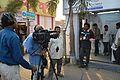 Rangan Datta - Doordarshan Interview - Wikimedia Stall - 38th International Kolkata Book Fair - Milan Mela Complex - Kolkata 2014-02-07 8479.JPG