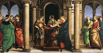 Oddi Altarpiece (Raphael) - Image: Raphael Presentation in the Temple