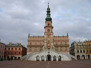 Architectural style - Town Hall of Zamość by Bernardo Morando.