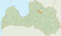 Raunas novada karte.png