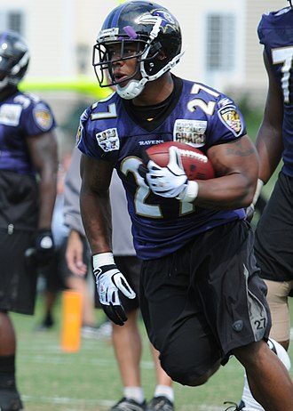 Ray Rice - Rice at Ravens practice