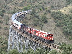 TCDD DE24000 - Two DE24000 locomotives pulling a westbound regional train.