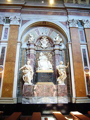 Giovanni Battista de Luca - Monument to Giovanni Battista de Luca in Rome, Santo Spirito dei Napoletani, by Domenico Guidi, 1683.