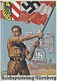 Reichsparteitag Nürnberg Postkarte Ansichtskarte 1937 Photo-Hoffmann München 36-7 Hitlerjugend HJ NSDAP Propaganda Reichsadler Burg Nazi Party Nuremberg Rally Postcard Uncredited artist (no signature) No known copyright restrictions.jpg