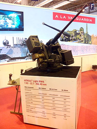 Remote weapon station - Remote weapon system light made by OTO Melara Iberica