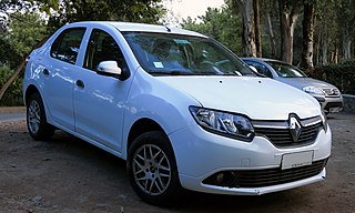 Renault Symbol subcompact car built by the french manufacturer Renault