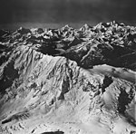 Rendu and Margerie Glaciers, mountain glacier and arete, September 12, 1973 (GLACIERS 5831).jpg