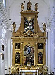 Retablo mayor de Santo Domingo el Antiguo. El primer gran encargo que recibió en Toledo (1577).