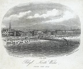 Rhyl, North Wales. From the Sea
