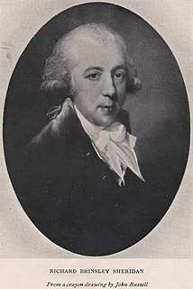 Richard Brinsley Sheridan Irish-British politician, playwright and writer