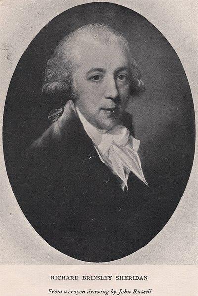 Richard Brinsley Sheridan, Irish-British politician, playwright and writer