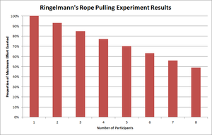 Social loafing - Results from Ringelmann's experiment