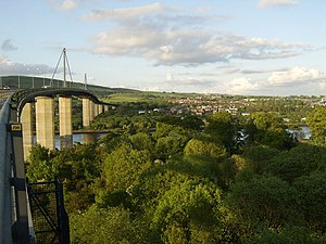 Old Kilpatrick - River Clyde and Old Kilpatrick from the Erskine Bridge