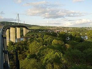 Old Kilpatrick - River Clyde and Old Kilpatrick from the Erskine Bridge