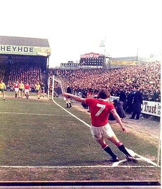 Steve Coppell - Coppell taking a corner kick in 1979 at Carrow Road