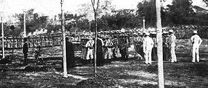 English: Photo of Jose Rizals execution (1896)...
