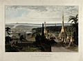 Road to Rangoon, Burma. Coloured aquatint by William Daniell Wellcome V0050495.jpg