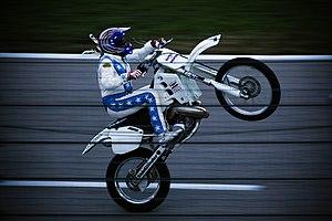 Robbie Knievel - Doing a wheelie at Texas Motor Speedway in June 2008