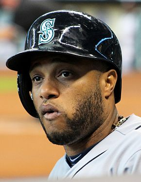 Robinson Canó with Mariners in Houston on July 2, 2014.jpg
