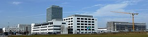Pharmaceutical industry in Switzerland - The headquarters of Roche Diagnostics in Rotkreuz, Switzerland.