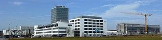 Pharmaceutical industry in Switzerland - The headquarters of Roche Diagnostics in Rotkreuz, Switzerland.