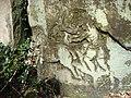 Rock carving of chariot at Wakehurst.JPG