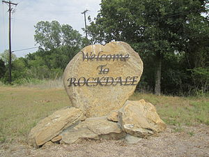 Rockdale, Texas - Rockdale welcome sign