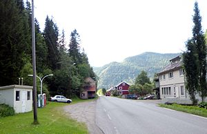Rognes, Norway - View of the village