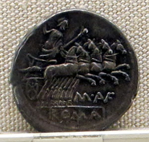 Aufidia (gens) - Ancient Roman coin in the National Roman Museum