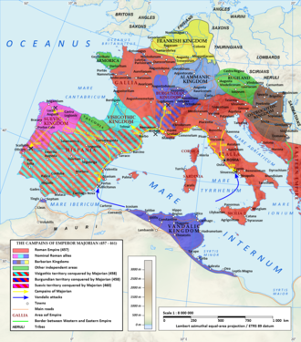 Petronius Maximus - The Western Roman Empire at about this period