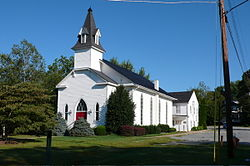 Round Hill United Methodist Church, established 1889 in Round Hill, Virginia.